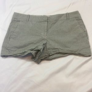 J. Crew Factory Blue and White Striped Shorts